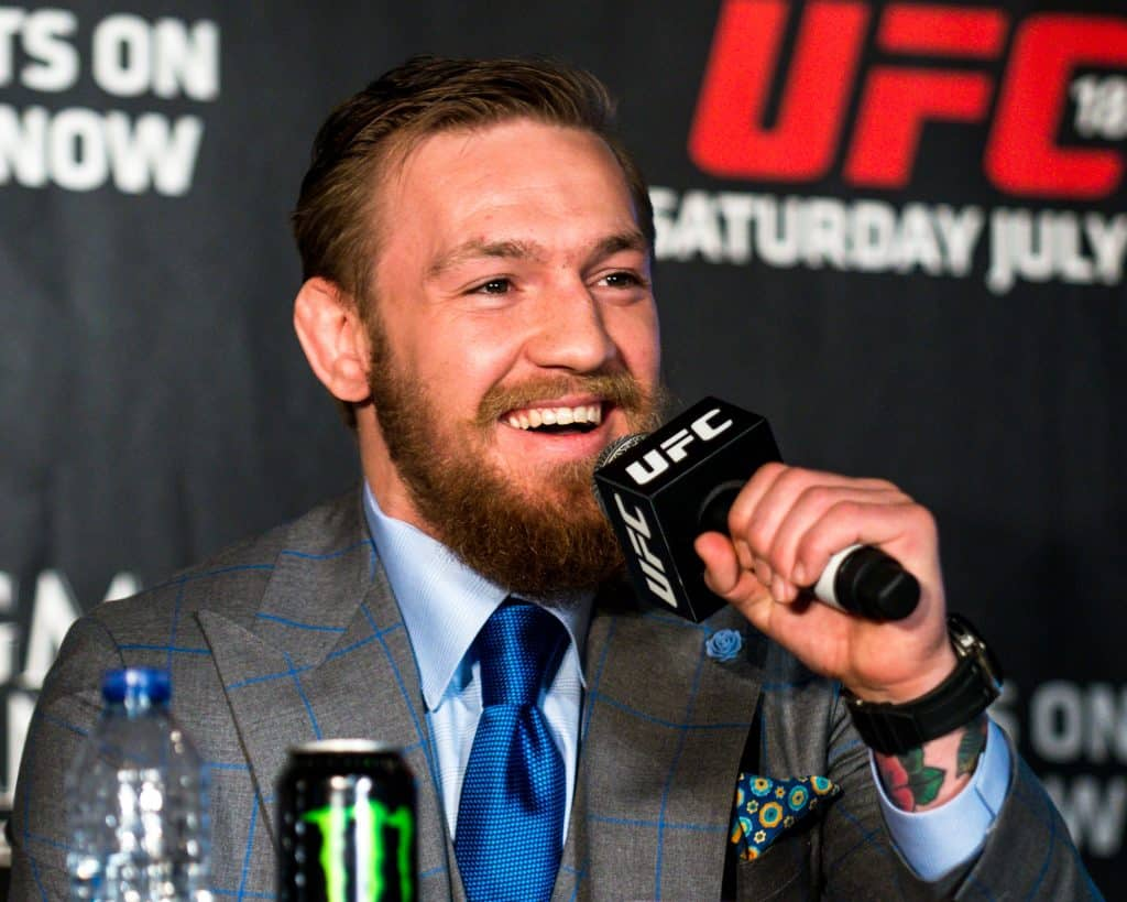 McGregor was the first Irish man to join UFC.