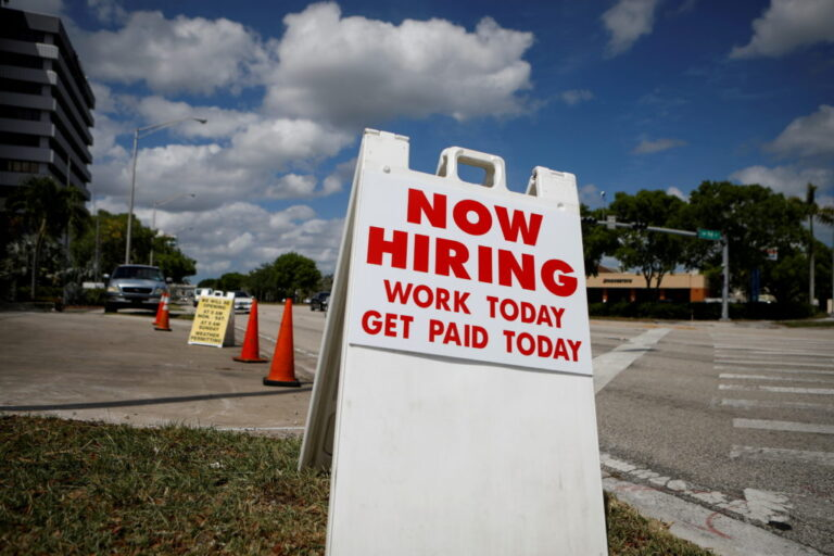 Worker pay rises strongly as businesses fight to fill jobs