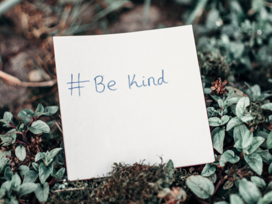 Be grateful and exude kindness.
